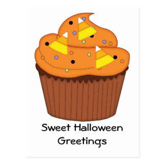 Sweet Halloween Cupcake Postcard