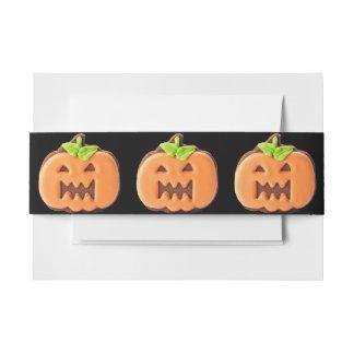 Sweet Halloween orange pumpkin Invitation Belly Band