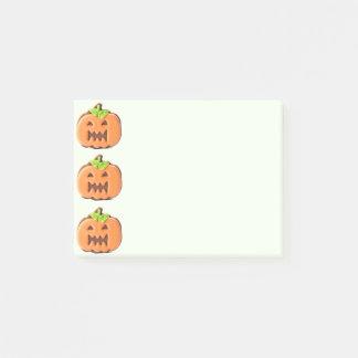 Sweet Halloween Orange Pumpkin Post-it® Notes