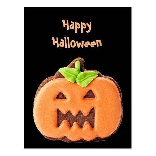 Sweet Halloween Orange Pumpkin Postcard
