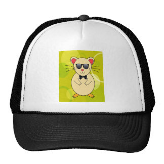 Sweet Hamster with Sunglasses and Ribbon Bow Cap