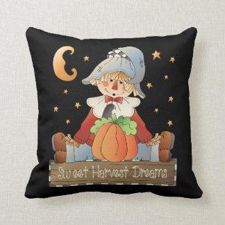 Sweet Harvest Dreams fall throw pillow