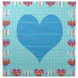 Sweet Heart Blue Napkins