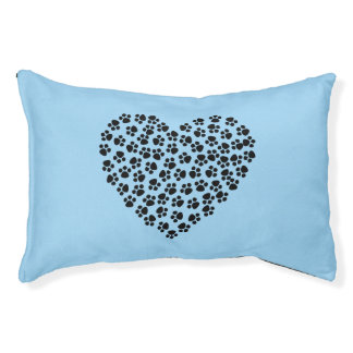Sweet heart blue dog bed