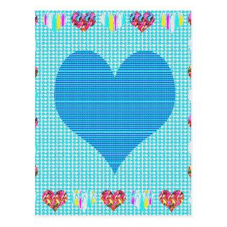 Sweet Heart Blue Post Card