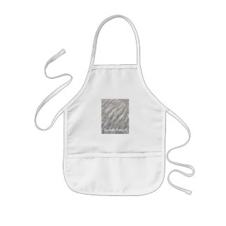 Sweet heart drawing on the beach kids apron