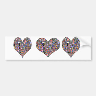 Sweet Heart Floral Marbles Bumper Sticker