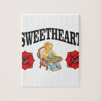 sweet heart girl jigsaw puzzle