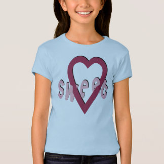 Sweet Heart -  Girls Baby Doll (Fitted) T-Shirt