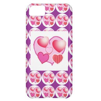 Sweet Heart Patterns : Pink Theme iPhone 5C Case