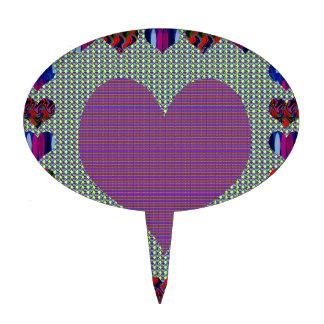 Sweet Heart Purple Cake Picks