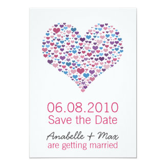 Sweet-Heart Save the Date 13 Cm X 18 Cm Invitation Card