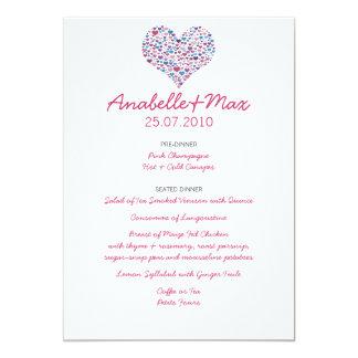 Sweet-Heart Wedding Menu Card