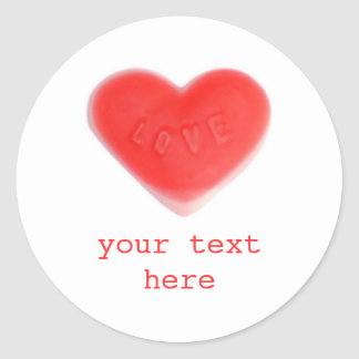 Sweet Heart 'Your Text' sticker round