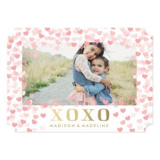Sweet hearts in White | Valentine's Day Photo Card 13 Cm X 18 Cm Invitation Card