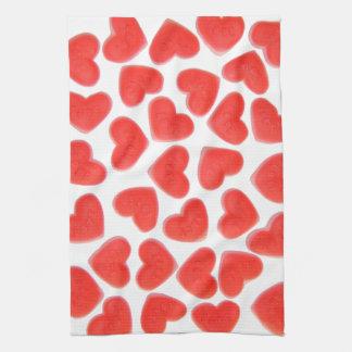 Sweet Hearts kitchen towel