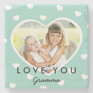 Sweet Hearts Personalized Photo Stone Coasters