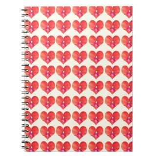 Sweet HEARTS Petal CherryHILL NJ NVN215 NavinJOSHI Spiral Note Book
