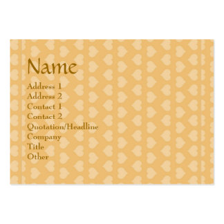 Sweet Hearts SWEEThearts in Golden background Business Card Template