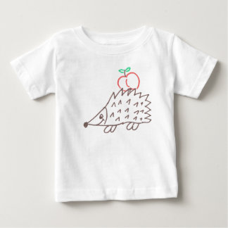 Sweet hedgehog with apple baby shirt