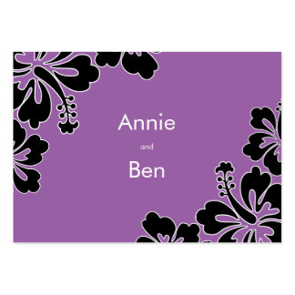 Sweet Hibiscus Wedding Directions Card Business Card Templates