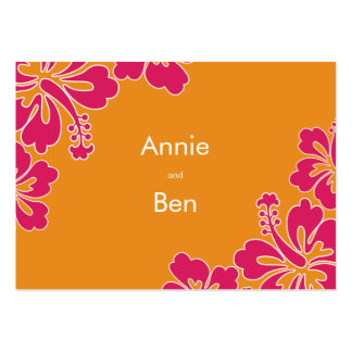 Sweet Hibiscus Wedding Directions Card Business Cards