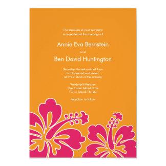 Sweet Hibiscus Wedding Invitation Card