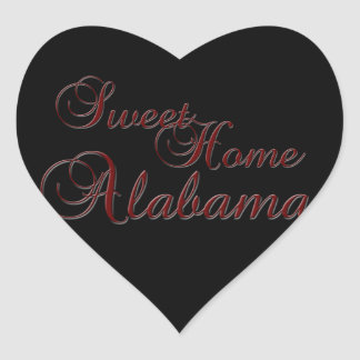 Sweet Home Alabama Heart Shaped Sticker