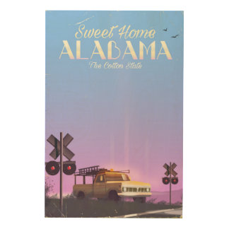 """Sweet home"" Alabama Travel poster"