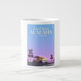 """Sweet home"" Alabama Travel poster Large Coffee Mug"
