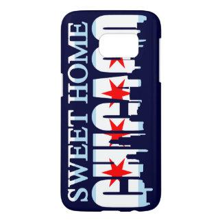 Sweet Home Chicago Flag Skyline