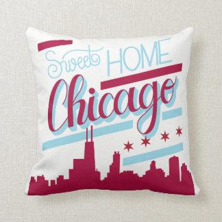 sweet home chicago pillow case, throw pillow decor