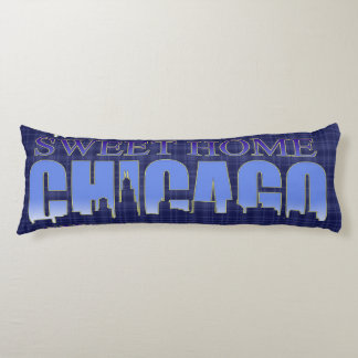 Sweet Home Chicago Skyline Body Pillow