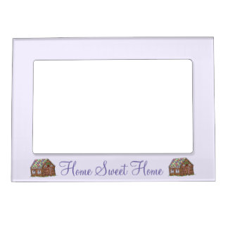 Sweet Home Housewarming Gift Gingerbread House Magnetic Frame