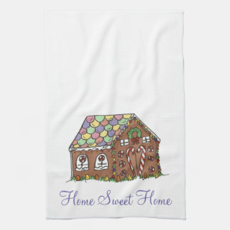 Sweet Home Housewarming Gift Gingerbread House Tea Towel