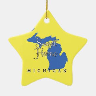 Sweet Home Michigan Ceramic Ornament