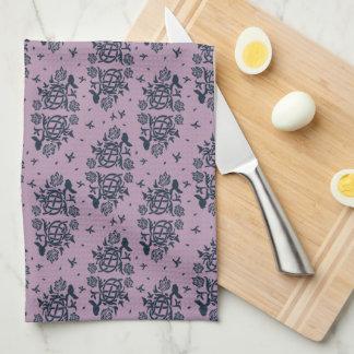 Sweet Home Tea Towel Lilac