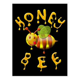 sweet honey bee postcard
