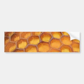 Sweet Honeycomb drawing orange yellow brown Bumper Sticker