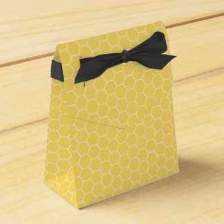 Sweet Honeycomb Honey Pattern Favor Boxes Party Favour Box