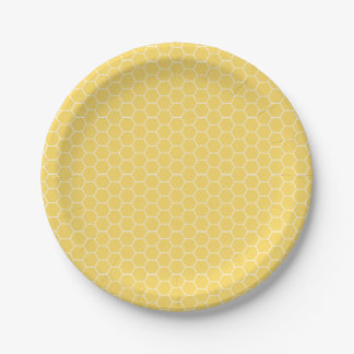 Sweet Honeycomb Pattern Paper Plates 7 Inch Paper Plate