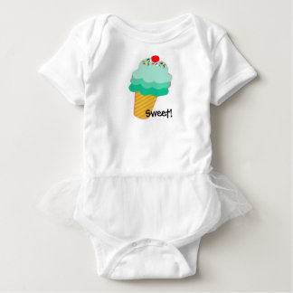 Sweet! Ice Cream Cone Baby Tutu Baby Bodysuit