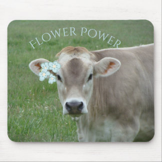 Sweet Jersey Cow advocates Flower Power Mouse Pad