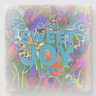 """Sweet Joy"" A Softly Romantic Marble Stone Coaster"