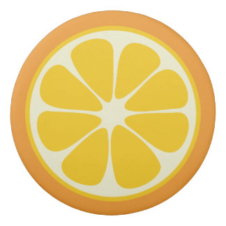 Sweet Juicy Orange Tropical Citrus Fruit Slice Eraser