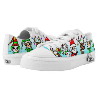 Sweet Kawaii Christmas Character pattern Low Tops