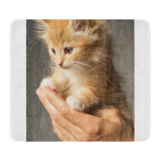 Sweet Kitten in Good Hand Cutting Board