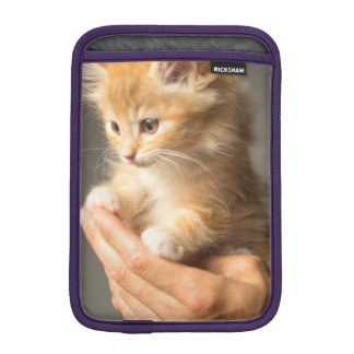Sweet Kitten in Good Hand iPad Mini Sleeve