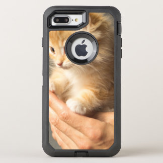 Sweet Kitten in Good Hand OtterBox Defender iPhone 8 Plus/7 Plus Case