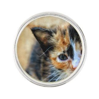 Sweet Kitten looking at YOU Lapel Pin